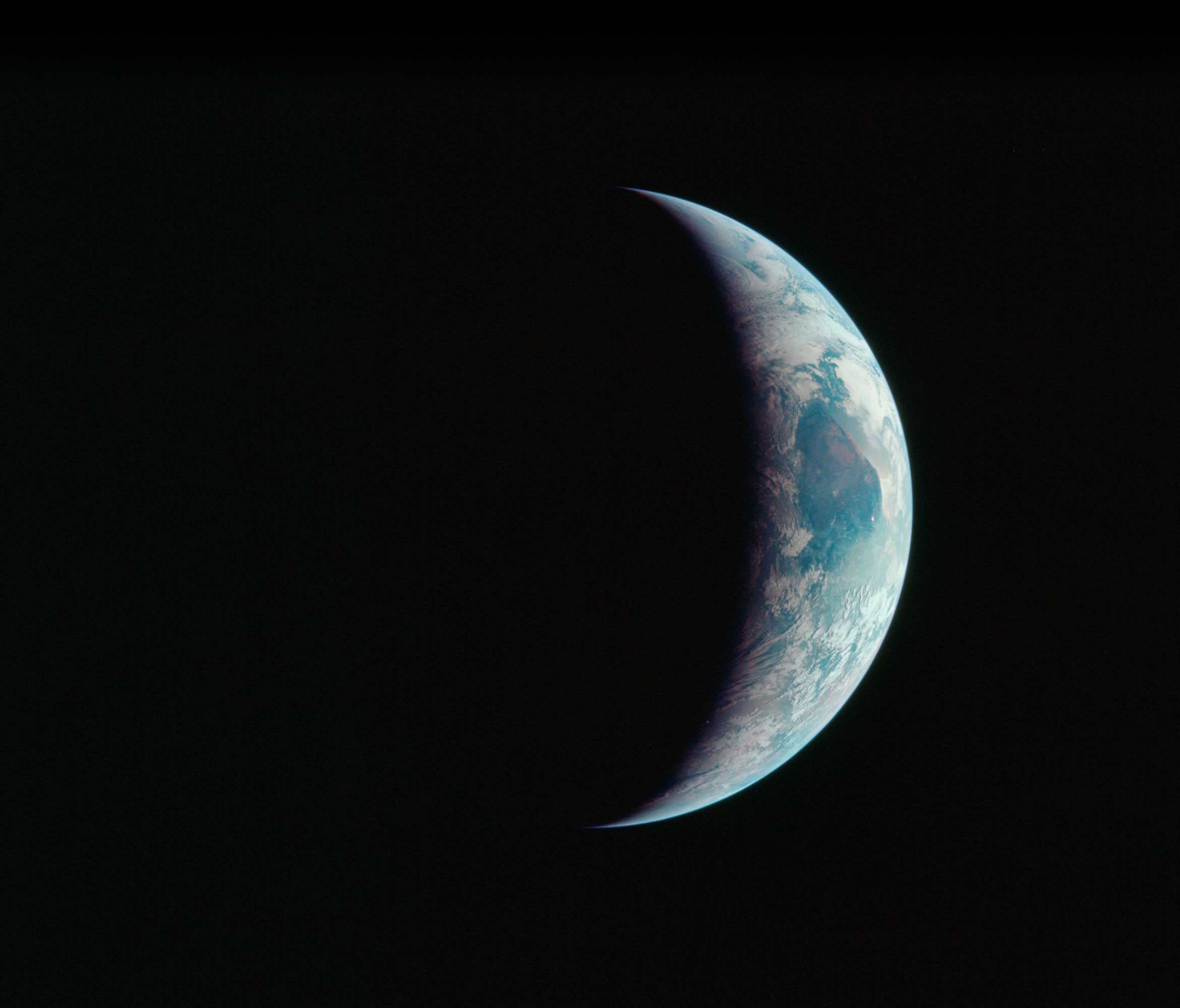 One-third of Earth's sphere as seen from Apollo 11 spacecraft