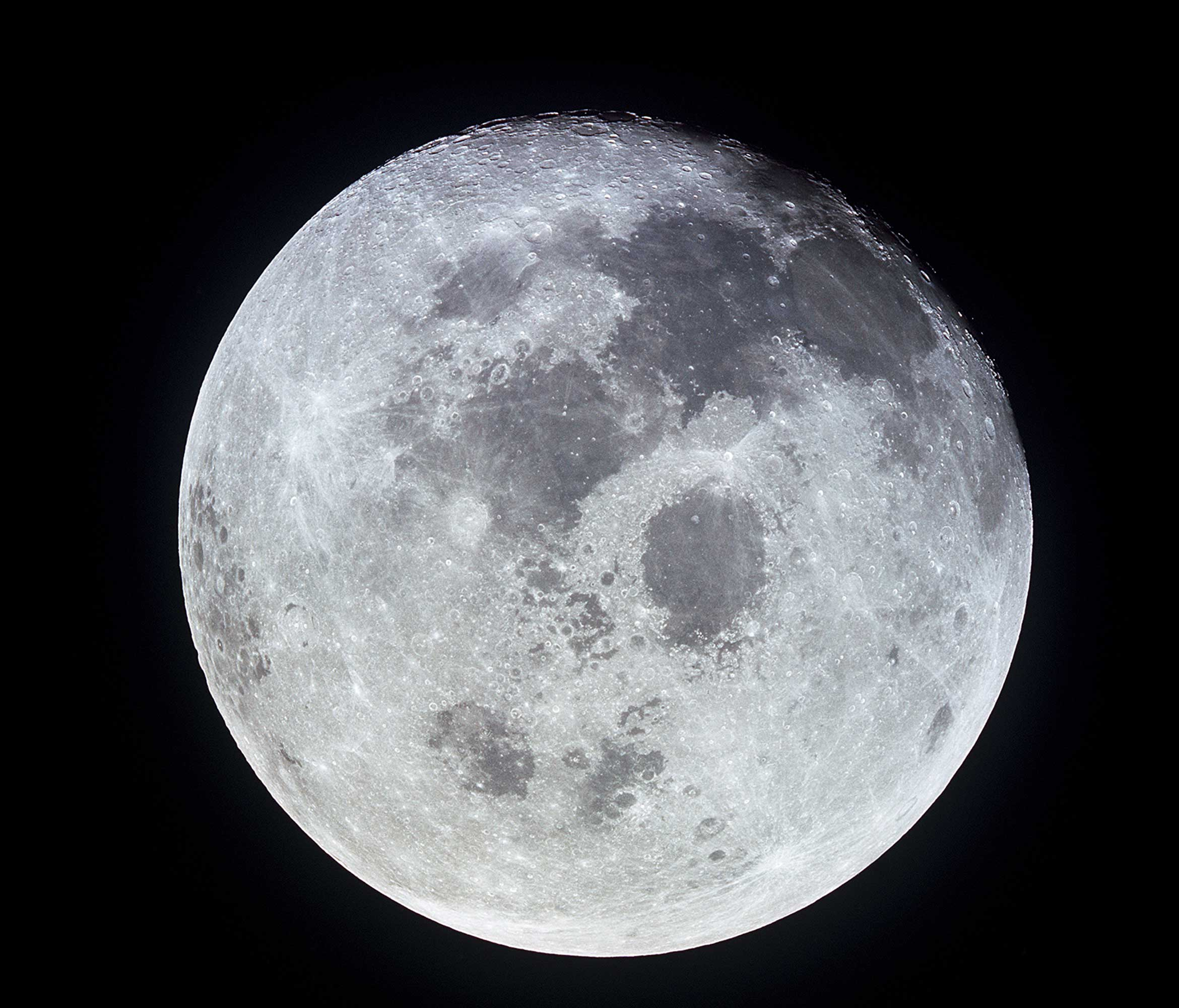 View of a full Moon photographed from Apollo 11 spacecraft